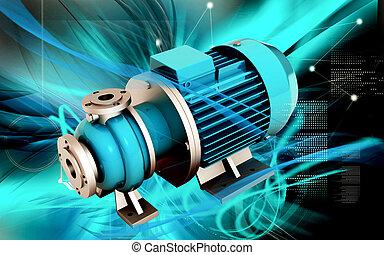 Pressure pump - Digital illustration of pressure pump in...