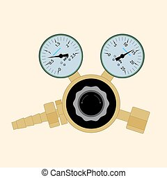 Pressure regulator for welding