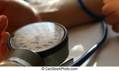 pressure., sanguine, mesure
