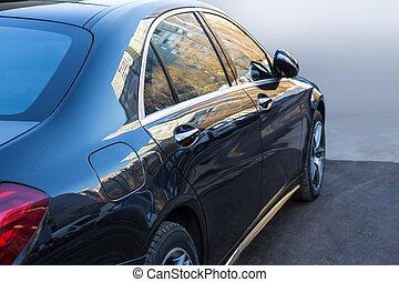 prestigious, lado, automóvil, vista