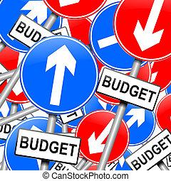 presupuesto, concept.