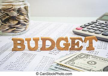 presupuesto, y, gerencia financiera, para, empresa / negocio, project.