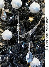 pretas, árvore, natal