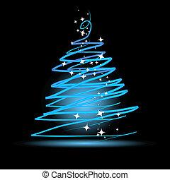 pretas, árvore, natal, fundo