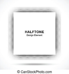 pretas, abstratos, halftone, projete elemento