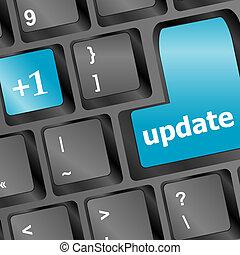 pretas, actualização, tecla computador, teclado