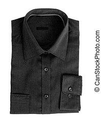pretas, algodão, camisa, para, homens