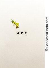 pretas,  App, palavra, escrito, letras