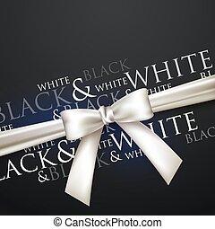 pretas, arco, fundo, branca