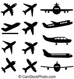 pretas, aviões