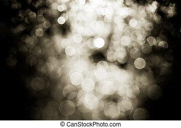 pretas, bokeh, luzes, fundo