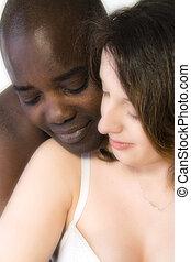 pretas, branca, mulher, amor, homem
