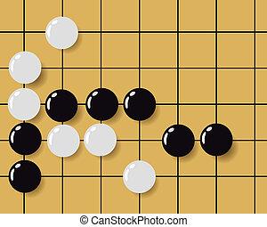 pretas, branca, quadrados, figuras
