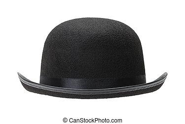 pretas, chapéu bowler