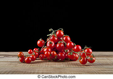 pretas, closeup, tomates, fundo