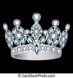 pretas, coroa, prata, fundo, mulheres