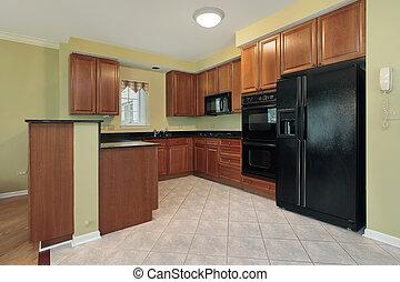 pretas, eletrodomésticos, cozinha