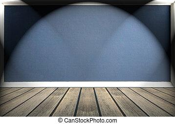 pretas, em branco, chalkboard, para, fundo