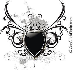 pretas, escudo