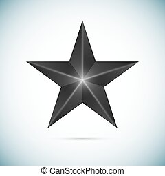 pretas, estrela, isolado, branco, fundo, vetorial