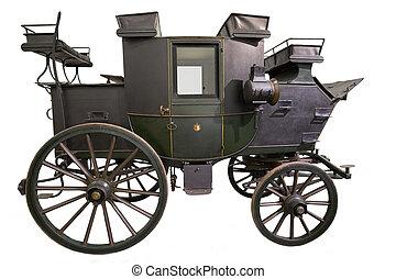 pretas, histórico, carruagem