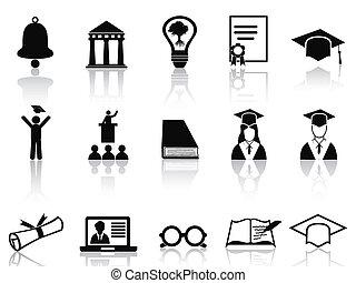 pretas, jogo, faculdade, ícones