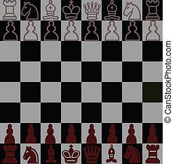 pretas, junta xadrez