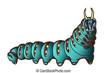 pretas, lagarta, swallowtail