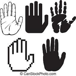 pretas, mãos