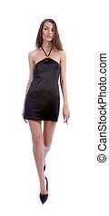 pretas, modelo, vestido