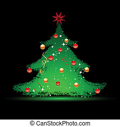 pretas, natal, fundo, árvore
