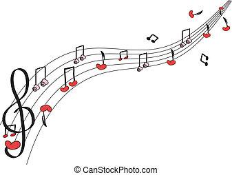 pretas, nota música