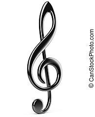 pretas, nota música, key.