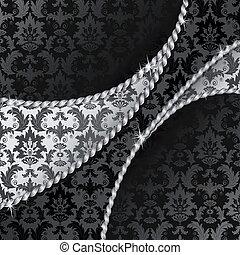 pretas, prata, fundo