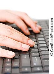 pretas, teclado