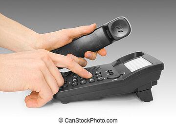 pretas, telefone escritório