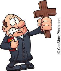 prete, spaventato