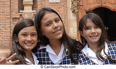 Preteen Catholic School Girls