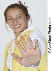 Preteen Girl - MR#261 Preteen girl posing with alittle...