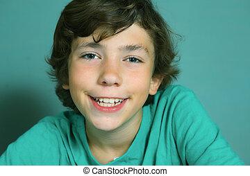 boy close up smiling portrait