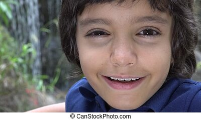 Hispanic Boy Making Funny Faces