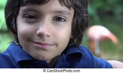 Preteen Hispanic Boy Smiling