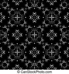 preto branco, seamless, padrão papel parede