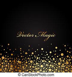preto, ouro, luxo, fundo