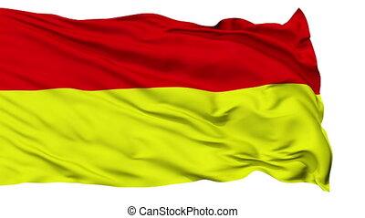 Pretoria City Isolated Waving Flag