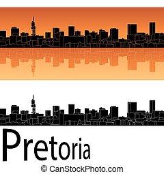 Pretoria skyline in orange background