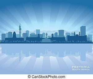 pretoria, sylwetka na tle nieba, afryka, południe, miasto