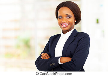 pretty African American businesswoman
