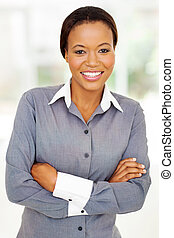 african american businesswoman in modern office