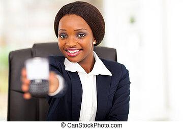 pretty african american businesswoman